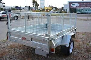 7x5 Box Trailer. 2017 build + cage. Tipper style & 12m Rego. PMX Stirling Stirling Area Preview