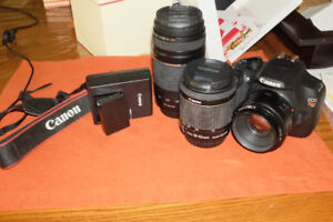 Canon T5  camera with 3 lens