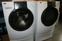 Kenmore Front Loader Washer and Eelectric Dryer With Pedistals $