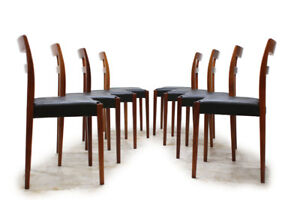 MCM 8 Rosewood Dining Chairs Designed by Nils Jonsson Sweden