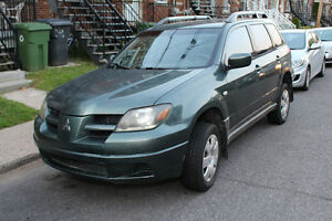2003 Mitsubishi Outlander SUV, AWD, AC, NEGOTIABLE