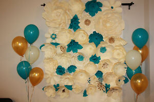 WEDDING PAPER FLOWER DECOR