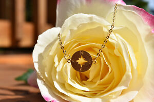 Gold Compass Necklace- Brand New & Etsy Shop Necklace