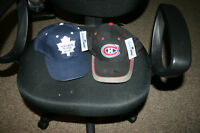 2 NEW NHL HATS(MONTREAL CANADIANS & TORONTO MAPLE LEAFS)