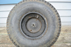 Lawn tractor rear tire 20 inch by 8 inch 1 inch center. used