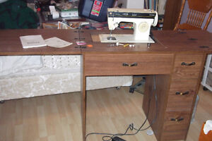 sewing machine and tablle