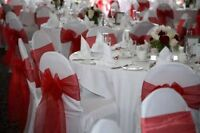 Chair cover, sashes and tablecloths for sale various colours.