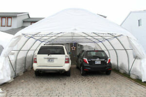 Promotion abris auto rond special 18x20 neuf car shelter