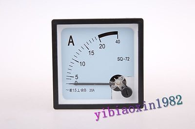 1pcs Ac 20a Analog Amp Panel Meter Without Current Transformer