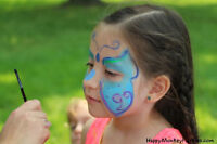 Face painting, animal balloons, glitter tattoos, Elsa, Minnie