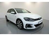 2018 WHITE VW GOLF 1.4 GTE ADVANCE DSG HYBRID 5DR HATCH CAR FINANCE FR £321 PCM