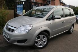 2009 Vauxhall Zafira 1.8I 16V EXCLUSIV 140PS Silver 7 Seater Finance Available