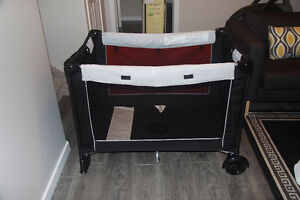 Eddie Bauer Travel Playard Baby w/ changer and canopy