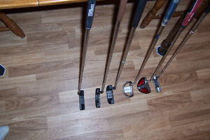 putters from 15.00 to 25.00 one left hand , 5 right hand