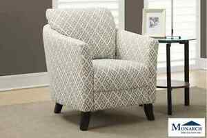 Brand NEW Sandstone Grey Accent Chair! Call 204-726-3499!