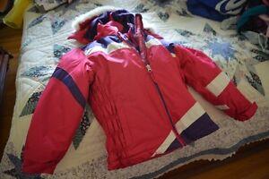 Girls 7/8 reversible waterproof pink/purple/white Winter Coat Peterborough Peterborough Area image 3