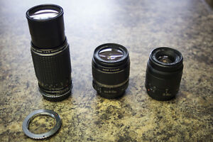 Cameras, lenses, and accessories