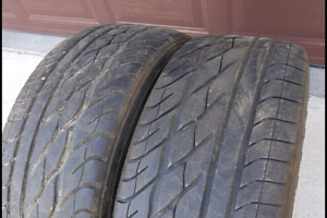 2 - 235/55/17 Goodyear Eagle GT Zrated - Like NEW.
