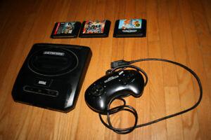 Sega genesis console with games