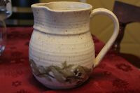 Pottery Pitcher -hand signed