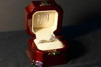 Engagement and Wedding Band Set - White Gold