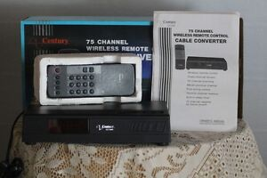 CENTURY 75 CHANNEL WIRELESS REMOTE CONTROL CABLE CONVERTER