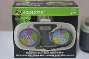 2 (TWO)  AQUA  STAR  ELECTRONIC  TWO-ZONE  WATER  TIMERS