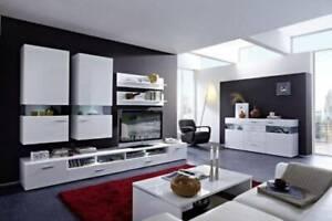"""8 Piece """"Desert"""" Living Room Set - White"""