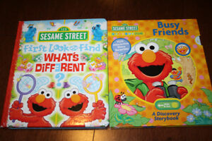 2 Sesame Street First Look & Find and Discovery Books