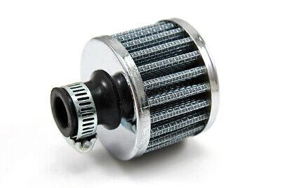 12mm Cold Air Filter Intake Crankcase Sliver Mini Oil Breather  Air Compressor