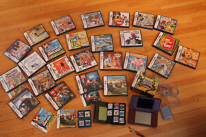 Nintendo DS XL and approximately 30 games