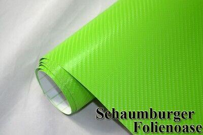 4D Carbon Folie Autofolie Grün 5 meter x 1,52 meter mit Luftkanäle selbstklebend