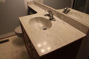 2 Solid stone bathroom vanity countertops 2 FREE TOILETS