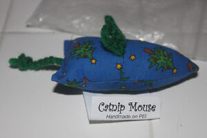 Handcrafted Pet CATNIP MOUSE (new)