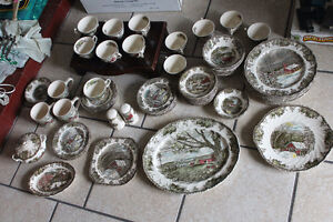72 Vintage Pieces of The Friendly Village Dinnerware