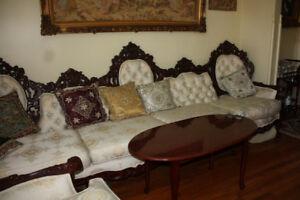 Ensemble de fauteuils de style baroque