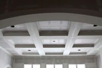 Popcorn ceiling removal. Smooth Ceiling. Drywall Patchwork