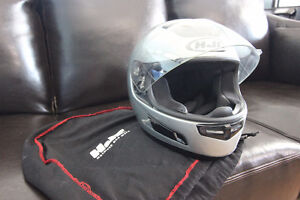 Motorcycle HJC Large/Med size helmet with bag silver