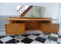 Retro vintage mid century G Plan limba dressing table sideboard desk and stool