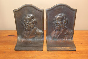 Pair of Vintage Bookends - Longfellow?