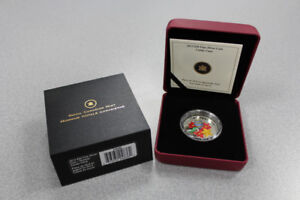 $20 Fine Silver Holiday Coin with Venetian Glass Candy Cane