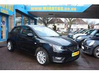 2012 62 SEAT IBIZA 1.6 CR TDI FR 3 DOOR DIESEL BLACK