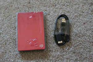2TB RED SEAGATE EXTERNAL HARD DRIVE