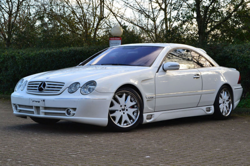 2003 03 mercedes benz cl 600 v12 lorinser pearl white 34000miles left hand drive in hillingdon. Black Bedroom Furniture Sets. Home Design Ideas