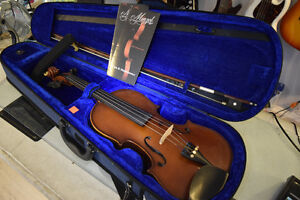 **GREAT CONDITION** Menzel Full-Size Violin + Bow + Case