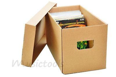 """Single musictools Schallplatten Box aus Pappe + Deckel für 200 Vinyl 7"""" Platten"""