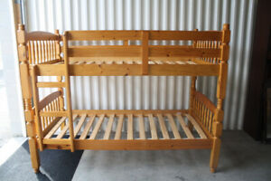 Solid Knotty Pine Bunk Beds