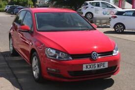 2015 Volkswagen Golf 1.6 TDI Match 105PS Diesel red Manual