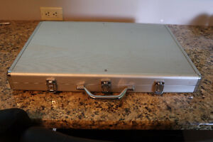 poker set with cards and dice