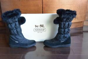 Coach Theona Fur Trim  Boots